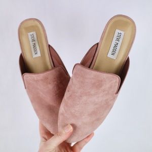 Steve Madden mauve mules with pearl heel